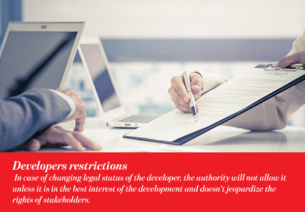 Developers restrictions