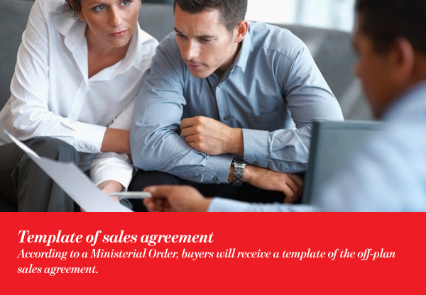 Template of sales agreement