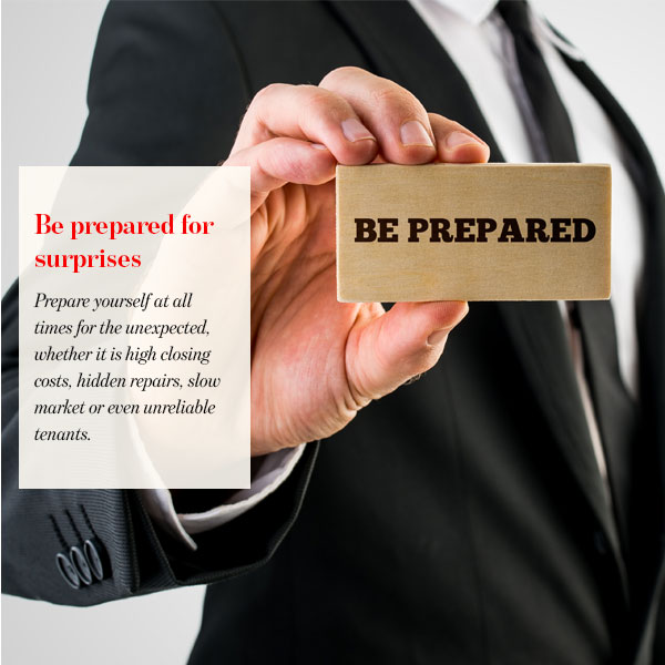 Be prepared for surprises