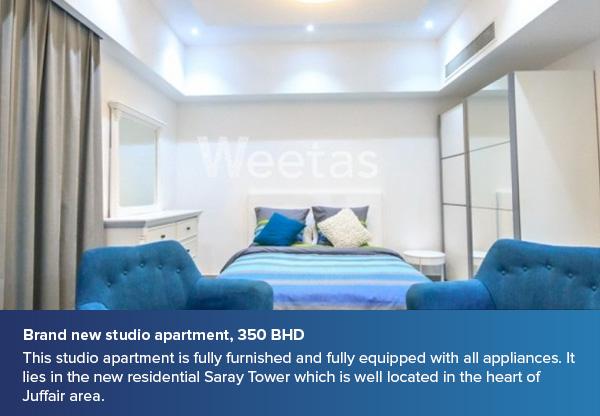 Brand new studio apartment, 350 BHD