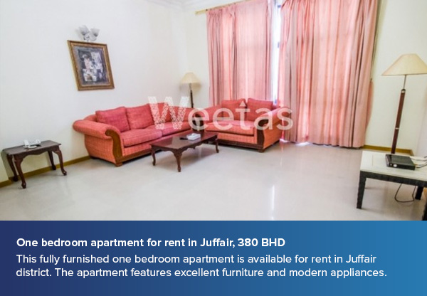 One bedroom apartment for rent in Juffair, 380 BHD