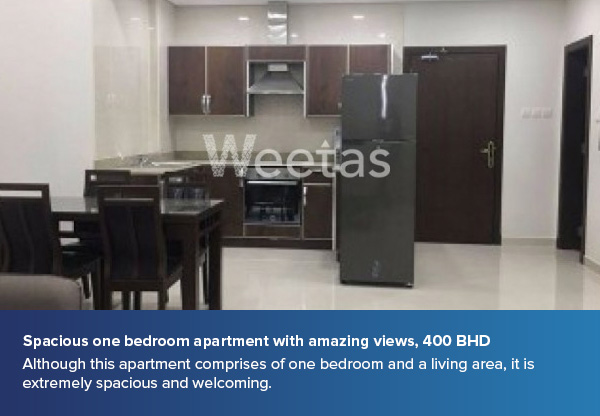 Spacious one bedroom apartment with amazing views, 400 BHD