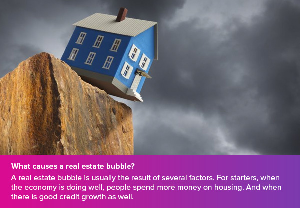 What causes a real estate bubble?